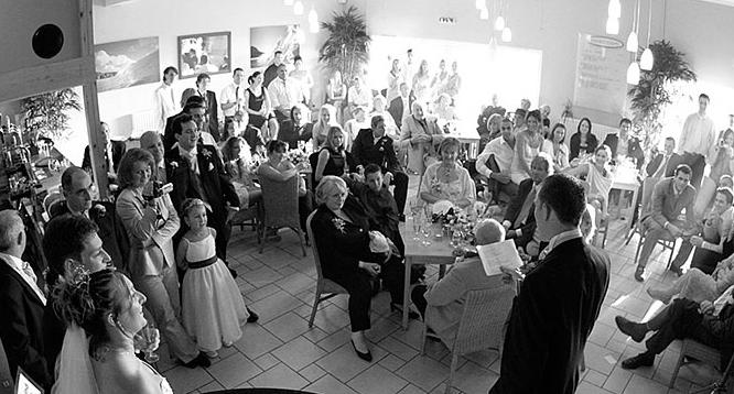 wedding, best man speech at the the Boardroom, Porthtowan Beach, Cornwall UK.