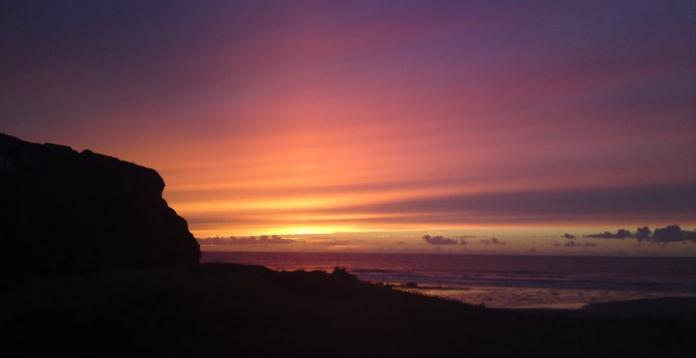 the beauty of a Cornish Sunset. Porthtowan Beach.